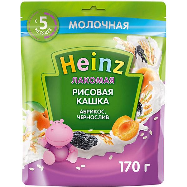 Heinz Каша Heinz Лакомая молочная рисовая абрикос чернослив, с 5 мес