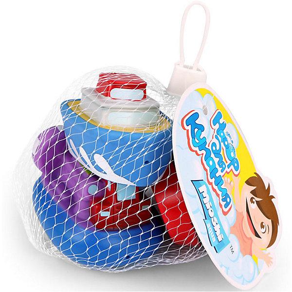 Mioshi Набор игрушек для ванны Mioshi Aqua Пароходики, 3 шт набор игрушек для ванны росигрушка утка и утята