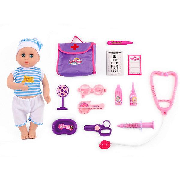 King Time Игровой набор с куклой-пупсом King Time Малыш у доктора, 37 см