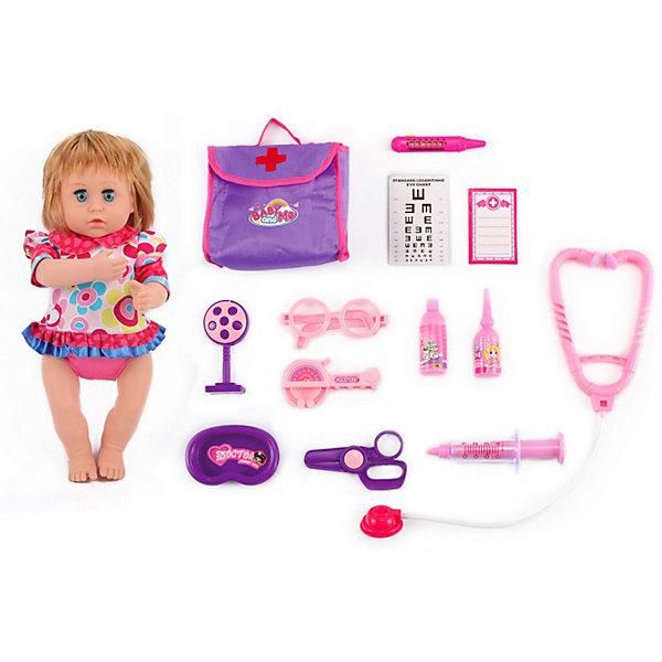 King Time Игровой набор с куклой-пупсом King Time Малышка у доктора, 37 см
