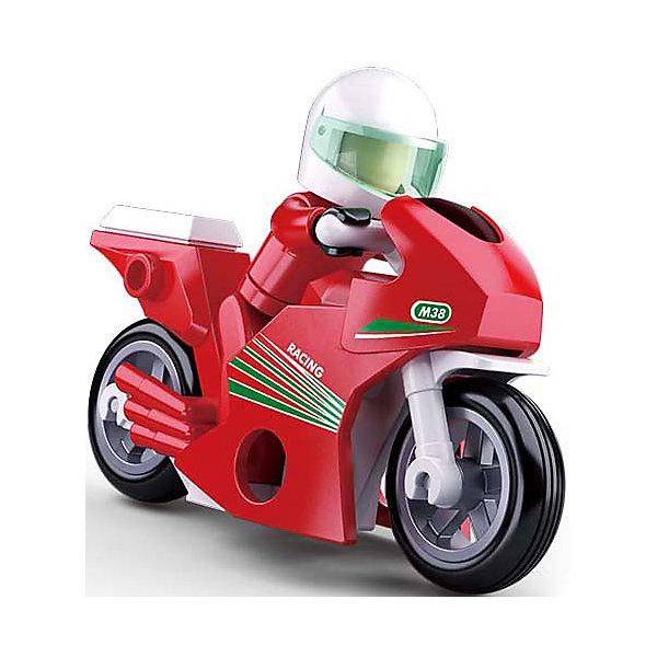 Купить Конструктор Sluban Город Гоночный мотоцикл, 60 деталей, Китай, разноцветный, Мужской