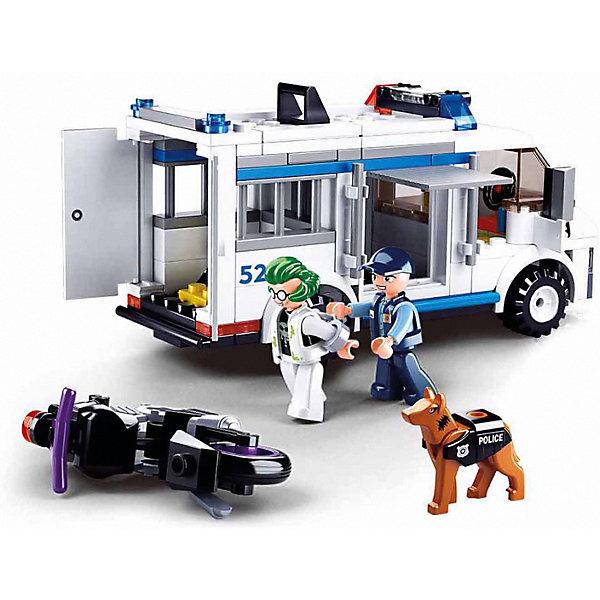 Sluban Конструктор Sluban Полиция Погоня на бронеавтобусе, 117 деталей конструктор sluban автобус 72 элемента