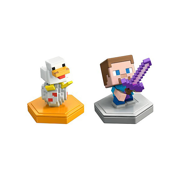 Mattel Набор фигурок Minecraft Earth Стив и цыплёнок набор фигурок minecraft alex survival pack – series 3