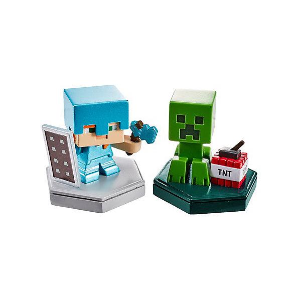 Mattel Набор фигурок Minecraft Earth Алекс и Крипер набор фигурок minecraft alex survival pack – series 3