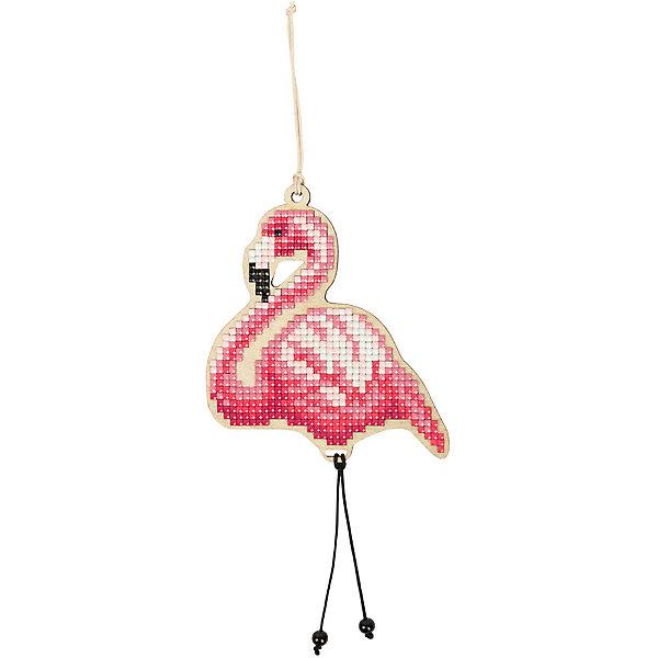 Фрея Алмазная мозаика Фрея Подвеска Фламинго, 8,5х10 см стилус
