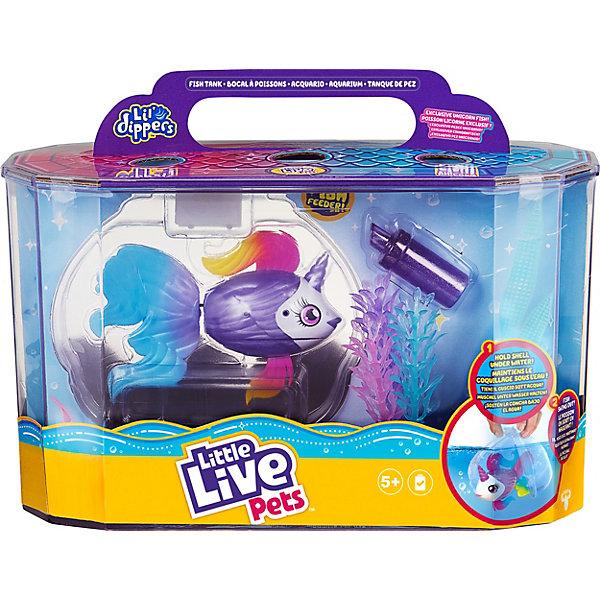 Купить Игровой набор Little live pets Рыбка-единорожка в аквариуме Lil' Dippers, Moose, Китай, Женский