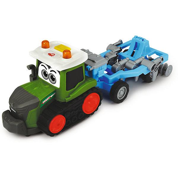 Dickie Toys Трактор Dickie Toys Happy Fendt с плугом, свет, звук, 30 см машина пластиковая dickie 3737000 трактор fendt с прицепом 41см свет звук