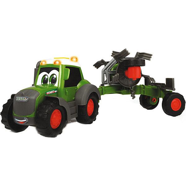Dickie Toys Трактор Dickie Toys Happy Fendt, свет, звук, 30 см машина пластиковая dickie 3737000 трактор fendt с прицепом 41см свет звук