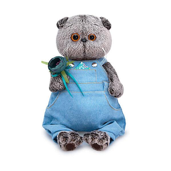 Фото - Budi Basa Одежда для мягкой игрушки Budi Basa Голубой комбинезон с розочкой, 19 см одежда для кукол colibri комбинезон с рубашкой и носочками 3888611