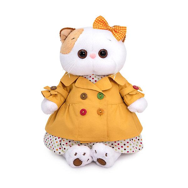 Budi Basa Одежда для мягкой игрушки Budi Basa Оранжевый плащ и платье в разноцветный горох, 27 см