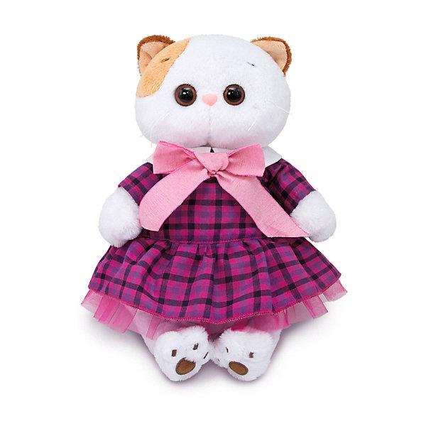 цена на Budi Basa Одежда для мягкой игрушки Budi Basa Платье в клетку с розовым бантом, 27 см