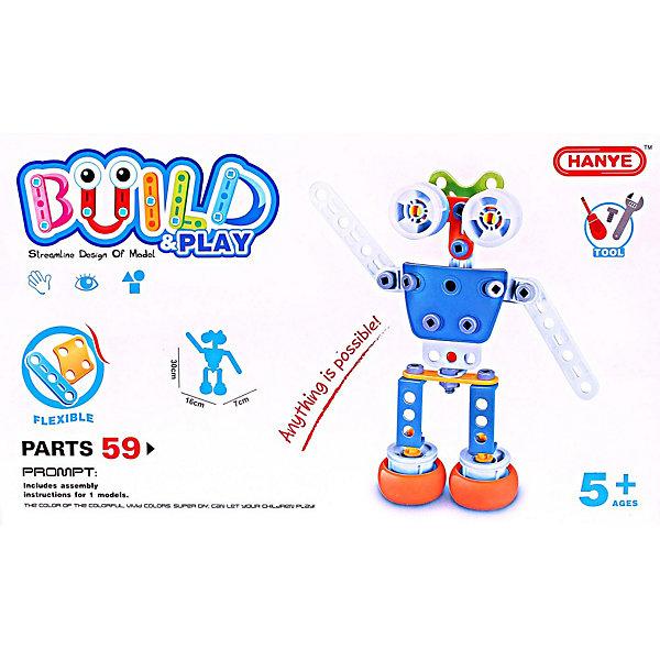Купить Конструктор Toto Робот, 59 деталей, Китай, разноцветный, Унисекс