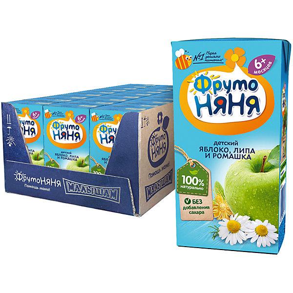 ФрутоНяня Напиток ФрутоНяНя яблоко, ромашка и липа, с 6 мес, 18 шт по 200 г фрутоняня пюре из яблок и абрикосов со сливками с 6 месяцев 90 г