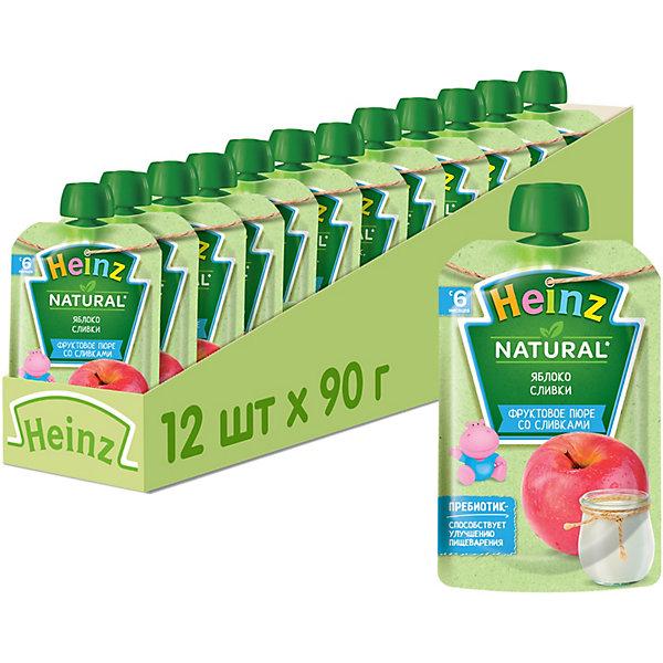Купить Heinz - пюре яблоко, сливки (пауч), 6 мес., 90/12, Россия, Унисекс