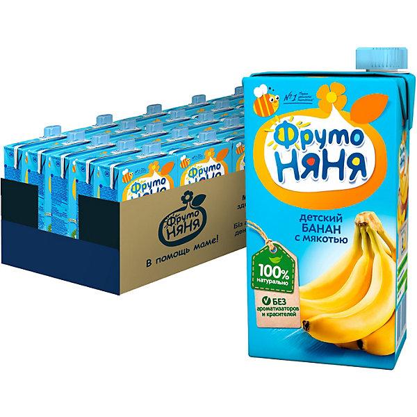 Фото - ФрутоНяня Нектар ФрутоНяНя бананы с мякотью, с 3 лет, 15 шт по 500 г пюре прогресс фрутоняня говядина овощи с 8 месяцев 100 г