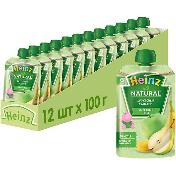 Купить Heinz - пюре фруктовый салатик (пауч), 6 мес., 100/12, Россия, Унисекс