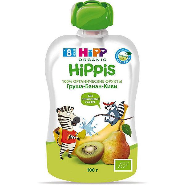 Купить HiPP- пюре груша, банан, киви HiPPis (пауч) 8 мес., 100/6, Австрия, Унисекс