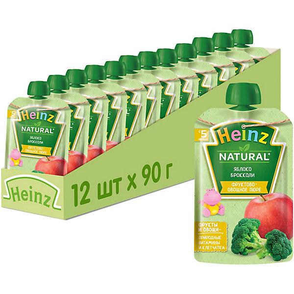 Купить Heinz - пюре яблоко, брокколи (пауч), 5 мес., 90/12, Россия, Унисекс