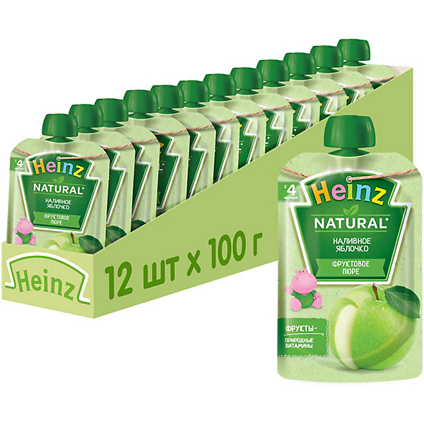 Купить Heinz - пюре наливное яблочко (пауч), 4 мес., 100/12, Россия, Унисекс