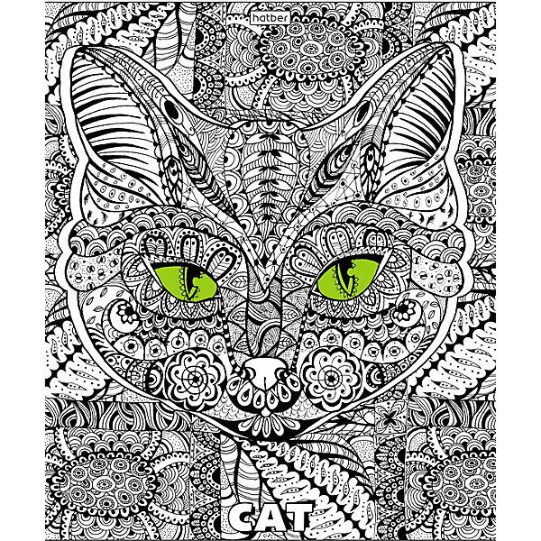 тетрадь hatber кошачьи мордочки 48 листов в клетку формат а5 10 шт Hatber Комплект тетрадей Hatber Dooldle-Art, 48 листов