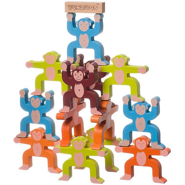 Купить Развивающая игра-балансир Bondibon Обезьянки, Китай, Унисекс