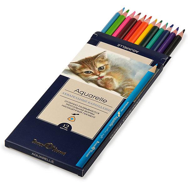 Акварельные цветные карандаши Bruno Visconti Aquarelle, 12 цветов   15445472