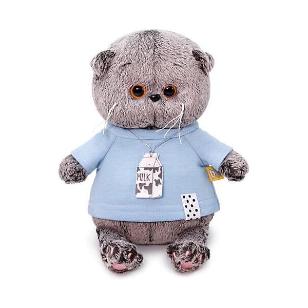 Купить Мягкая игрушка Budi Basa Кот Басик Baby в голубой футболке, 20 см, Россия, коричневый, Унисекс