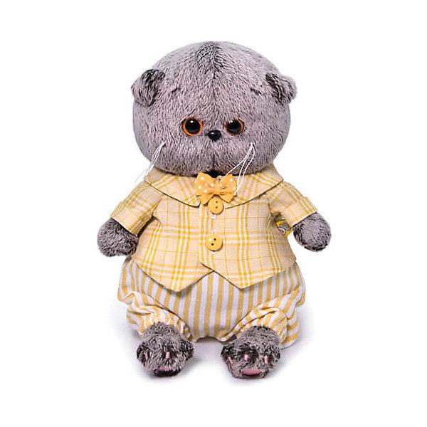 Купить Мягкая игрушка Budi Basa Кот Басик Baby в костюмчике, 20 см, Россия, коричневый, Унисекс