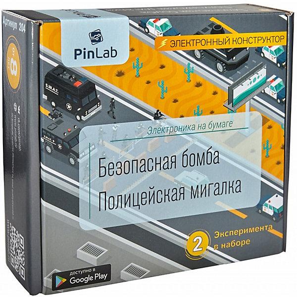 PinLab Конструктор Pinlab Безопасная бомба. Полицейская мигалка конструктор радио кит полицейская мигалка rl181