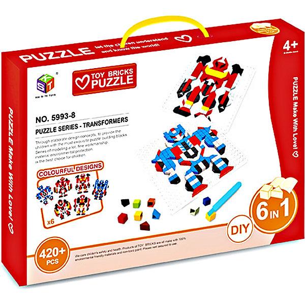 Купить Мозаика KST 3D серия Трансформеры 6 в 1, 420 элементов, Китай, Унисекс
