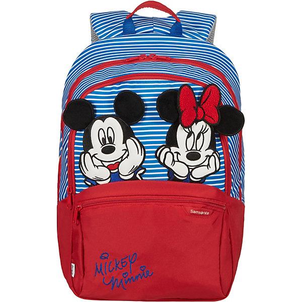 цена Samsonite Рюкзак Samsonite by Disney Микки и Минни в полоску, размер М онлайн в 2017 году