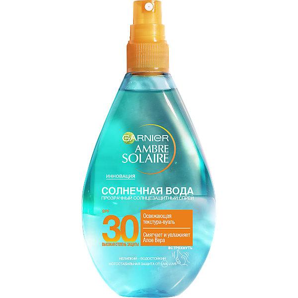 Garnier Спрей для тела Garnier Ambre Solaire Солнечная вода SPF 30 , 150 мл hydroxyethylpiperazine ethane sulfonic acid