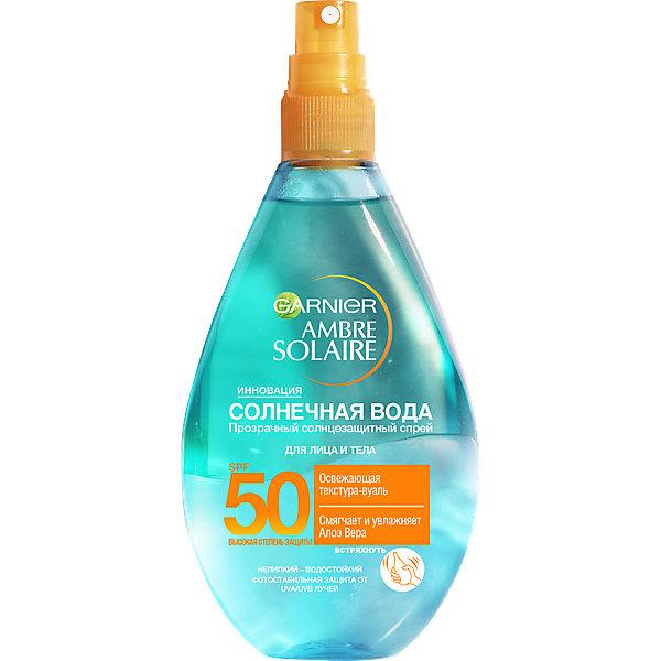 Garnier Спрей для тела Garnier Ambre Solaire Солнечная вода SPF 50 , 150 мл hydroxyethylpiperazine ethane sulfonic acid