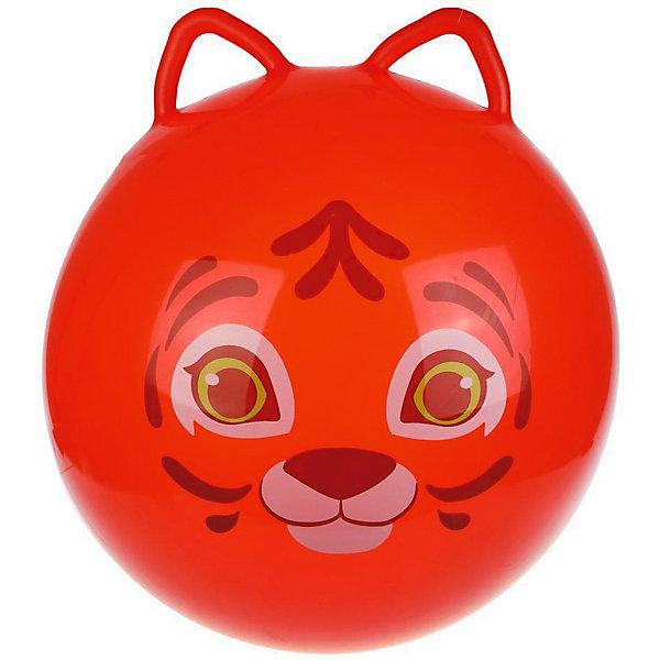 Moby Kids Мяч-прыгун Moby Kids Тигрёнок с ушками, 55 см мяч прыгун жирафик с рис 1300г в ассорт в пак в кор 15шт