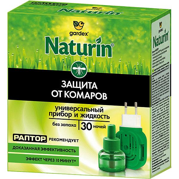 Gardex Комплект Gardex Naturin : универсальный прибор + жидкость от комаров без запаха, 30 ночей жидкость от комаров argus без запаха 30 мл