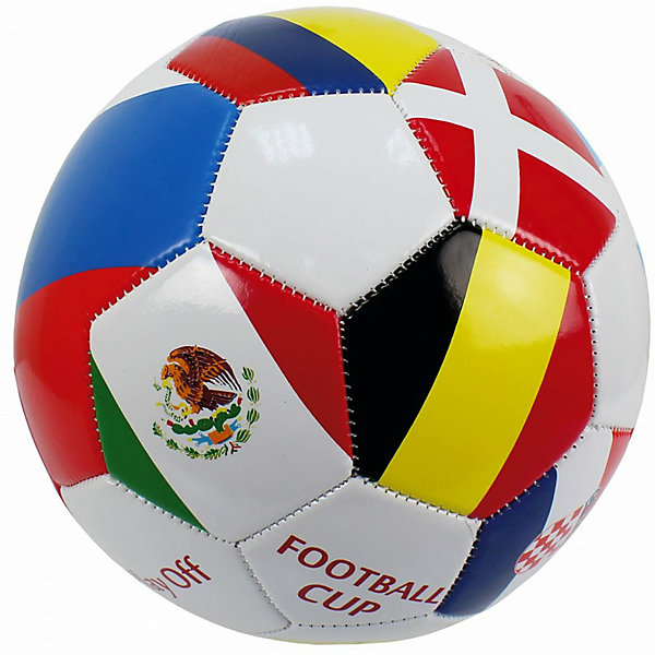 Купить Футбольный мяч 1Toy, Китай, разноцветный, Мужской