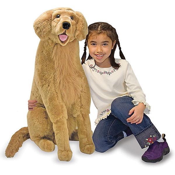 Купить Мягкая игрушка Melissa & Doug Золотистый ретривер , 79 см, США, бежевый, Унисекс