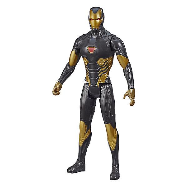 Фото - Hasbro Игровая фигурка Marvel Avengers Герои Титана Железный Человек Голд, 30 см фигурка железный человек режим сражения hasbro e0560