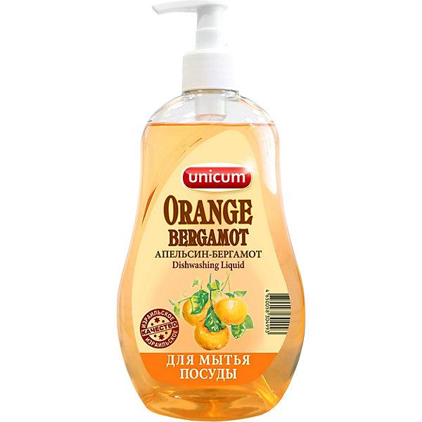 Средство для мытья посуды Unicum Апельсин-бергамот, 550 мл