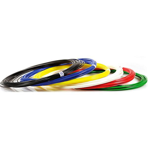 Unid Комплект пластика Unid ABS для 3Д ручек, 6 цветов в органайзере abs пластик для 3д печати нит перламутр рубин