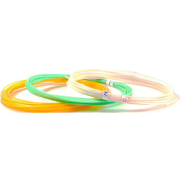 Unid Комплект пластика Unid ABS для 3Д ручек, 3 светящихся цвета в органайзере abs пластик для 3д печати нит перламутр рубин