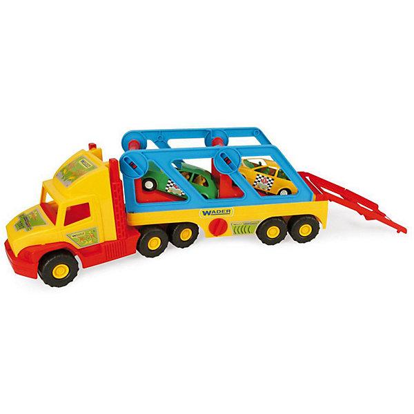 Wader Игровой набор Wader Super Truck, с авто-купе фургон wader super truck 36510 79 см