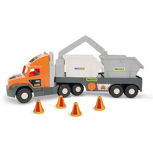 Wader Игровой набор Wader Super Tech Truck, с контейнерами фургон wader super truck 36510 79 см