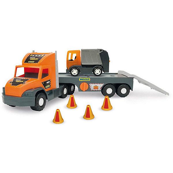 Wader Игровой набор Wader Super Tech Truck, с мусоровозом фургон wader super truck 36510 79 см