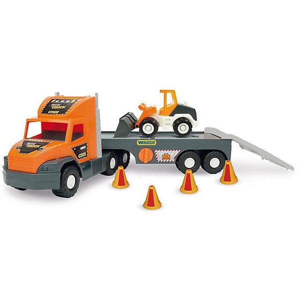 Wader Игровой набор Wader Super Tech Truck, с бульдозером фургон wader super truck 36510 79 см