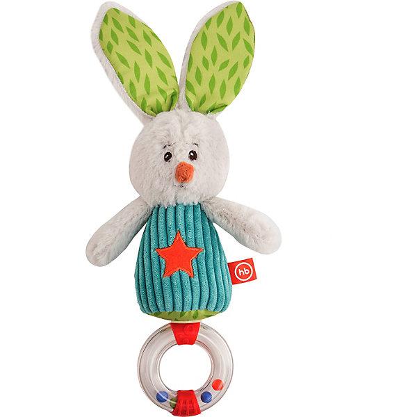 Happy Baby Погремушка-трещотка Happy Baby Заяц Макс happy baby 330058 игрушка погремушка keys of fun