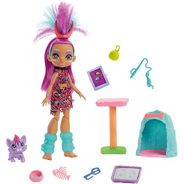 Mattel Игровой набор Cave Club Уход за любимцем Роралай и котёнок Феррел