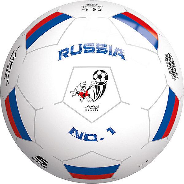 Купить Мяч John Моя страна 13 см, Китай, белый, Мужской