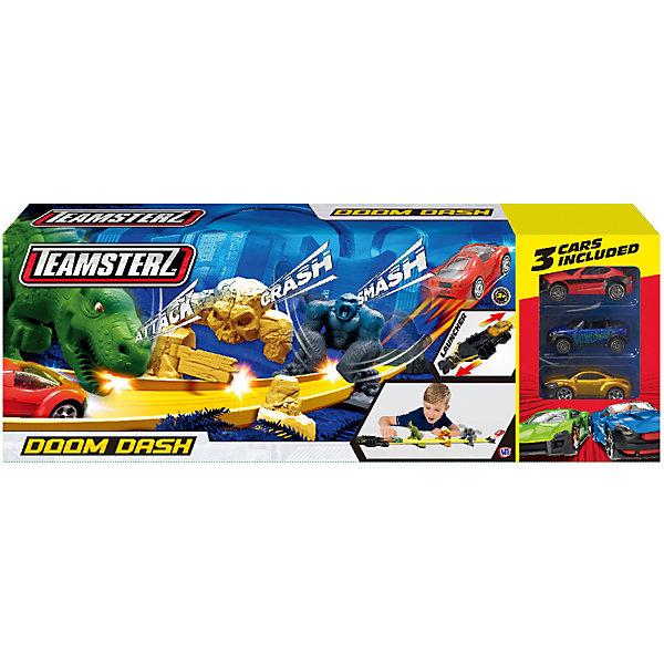 HTI Автотрек HTI Teamsterz Doom Dash, с машинками машины hti автотрек вулкан