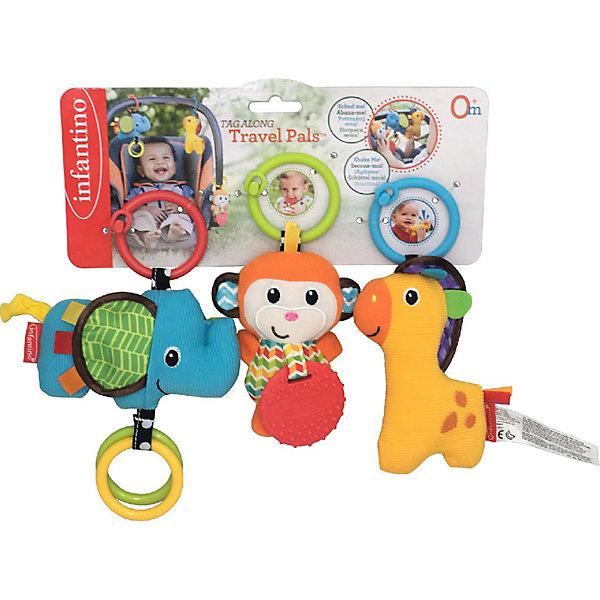 Купить Набор игрушек Infantino Друзья, 3 шт, Infantino BKids, Китай, оранжевый, Унисекс